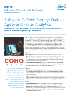 Software-Defined Storage Enables Agility and Faster Analytics