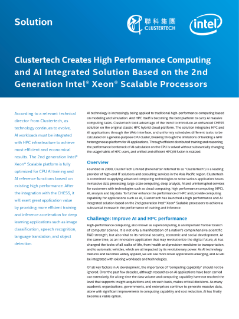 Clustertech Creates High Performance Computing (HPC) and AI Solution