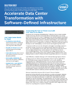Intel® Data Center Blocks for Cloud Deliver Reliable SDI Solutions
