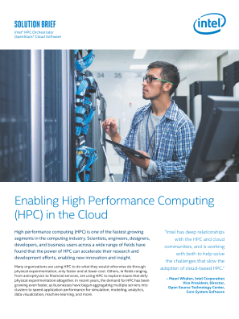 Enabling High Performance Computing in the Cloud