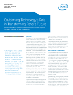 Envisioning Technology's Role in Transforming Retail's Future