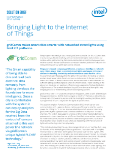 gridComm and an Intel® IoT Platform Light Up Smart Cities