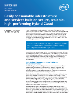 Hybrid Cloud Offerings from VMware and Intel