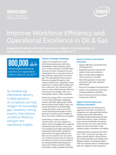 Improve Workforce Efficiency and Operational Excellence in Oil & Gas
