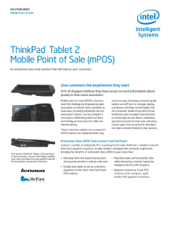 mPOS: ThinkPad* Tablet 2 Reimagines the Customer Experience