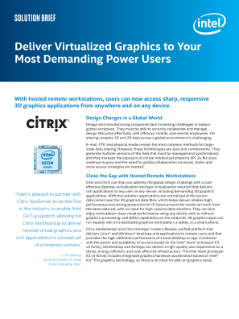 Summary: Intel Virtual GPU Delivers Virtualized Graphics