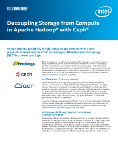 Storage Solutions from Apache Hadoop*, Ceph*, and Intel