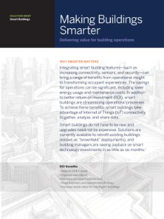Making Buildings Smarter Solution Brief