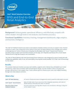Intel® Retail Solution Overview: RFID, End-to-End Retail Analytics