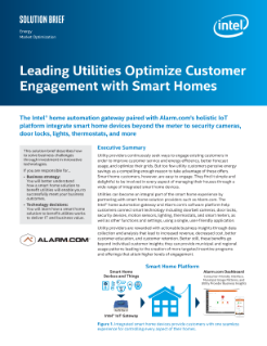 Leading Utilities Optimize Customer Engagement with Smart Homes Solution Brief
