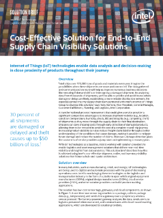 Cost-Effective Solution for End-to-End Supply Chain Visibility: Solution Brief