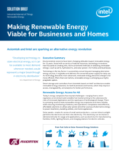 Making Renewable Energy Viable for Businesses and Homes