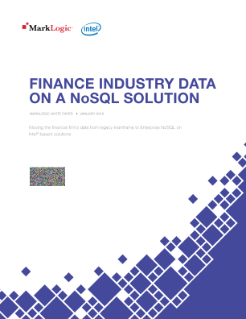 Finance Industry Data on a NoSQL Solution
