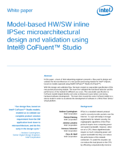 Design and Validate Microarchitecture with Intel® CoFluent™ Studio