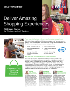 Deliver Amazing Shopping Experiences with NCR Sales Advisor