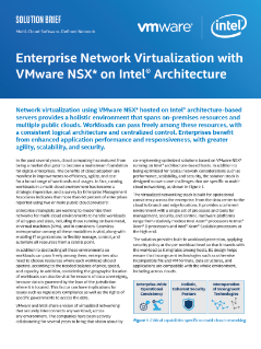 Network Virtualization: VMware NSX* with Intel® Technology
