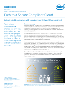 The Path to a Secure Compliant Cloud with HyTrust and VMware