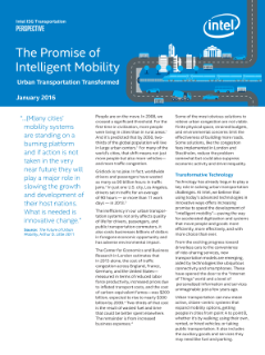 The Promise of Intelligent Mobility: Urban Transportation Transformed