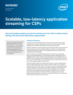 Scalable, Low-Latency Application Streaming for CSPs