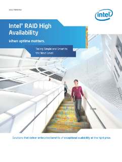 Intel® RAID High Availability—When Uptime Matters: Brief