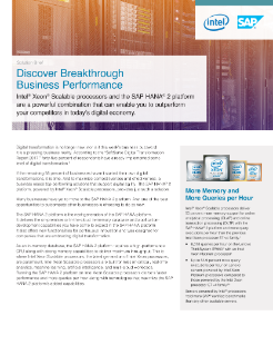 Drive Digital Transformation with Intel & SAP
