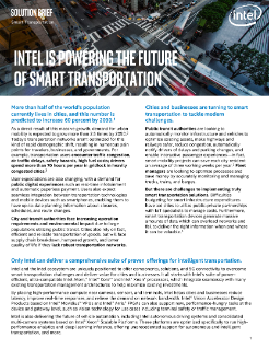 Intel Powers the Future of Smart Transportation