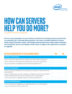 Your Data Is Your Business - Server Checklist