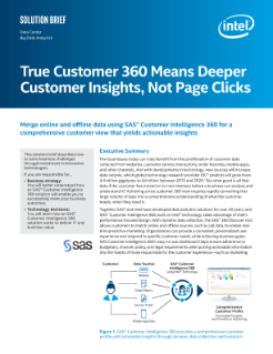 SAS True Customer 360* Means Deeper Customer Insights