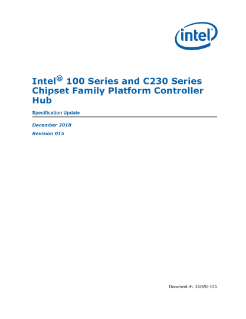 Intel® 100 and C230 Series Chipset Family PCH Specification Update