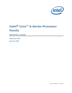 6th Gen Intel® Core™ X-Series Processor Family Spec Update