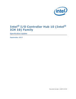 Intel® I/O Controller Hub 10 Family: Specification Update