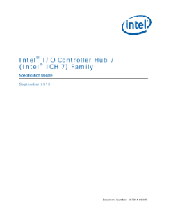 Intel® I/O Controller Hub 7 (ICH7) Family Specification Update