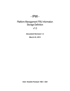 Platform Management FRU Information Storage Definition v1.0 rev. 1.2