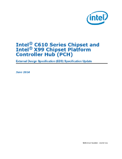 Intel® X99 Chipset Platform Controller Hub (PCH) Specification Update