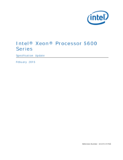 Intel® Xeon® Processor 5600 Series Specification Update