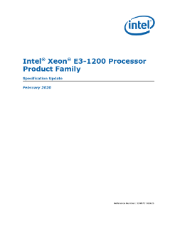 Intel® Xeon® E3-1200 Processor Product Family Spec Update