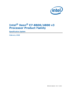 Intel® Xeon® Processor E7-8800 and E7-4800 v3 Specification Update