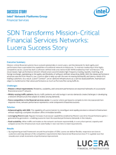 Lucera uses SDN to Transform Mission-Critical FSI Networks
