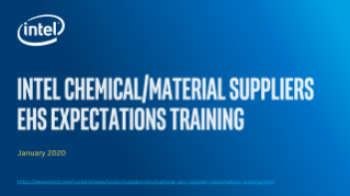 Chemical/Material Supplier EHS Training