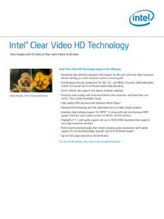 Intel® Clear Video HD Technology: Specifications