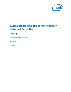 eXtensible Host Controller Interface for Universal Serial Bus (xHCI)