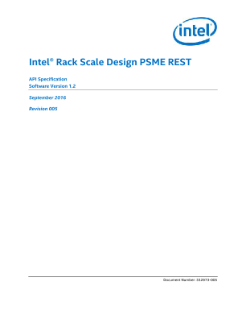 PSME Specification: Intel® Rack Scale Design