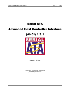 Serial ATA AHCI: Specification, Rev. 1.3.1
