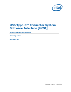 USB Type-C Connector System Software Interface Specification