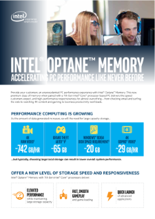 Intel® Optane™ Memory - Accelerating PC Performance Like Never Before