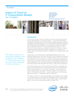 Impact of Cloud on IT Consumption Models: Top 10 Insights