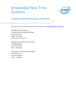 Embedded Real Time Systems Specification Table of Contents