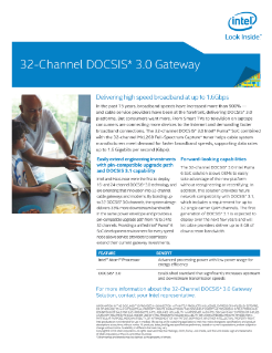 32-Channel DOCSIS 3.0 Gateway