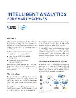An IoT Solution from Intel and SAS