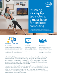 Stunning 4K Display Technology for Desktop Computing White Paper